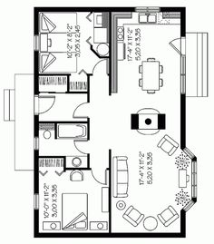 Room and house plans and layouts.