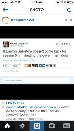 Even Obama love's Damon.. Haha