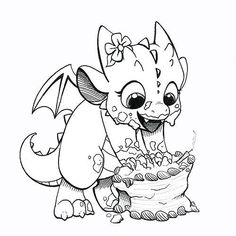 Dragons & Beasties 2014 Today is Ember's first birthday! So in honor of it, I drew a baby dragon delightedly smashing her birthday cake to bits. Animal Coloring Pages, Coloring Book Pages, Dragon Sketch, Dragon Drawings, 3d Drawings, Dragon Coloring Page, Fairy Coloring, Cartoon Dragon, Dragon Pictures