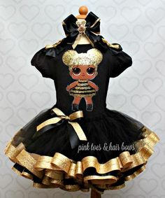 Queen bee lol surprise doll tutu set-Queen bee lol surprise outfit-Que – Pink Toes & Hair Bows