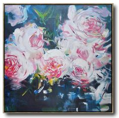 Abstract Flower Oil Painting #LX11A