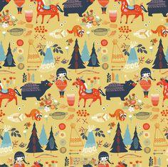 Birch Fabrics - Organic Cotton - Wildland - Village Feast Sun - Poplin by the Yard