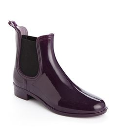 Purple & Black Elastic Rain Boot by Shoes of Soul #zulily #zulilyfinds