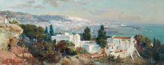 Maxime Noire (France 1861 - 1927) Vue de la baie d'Alger