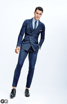 Smart casual men dress code – lovely the laid back pinstripe suit you should try gq Preppy Mens Fashion, Gq Fashion, Best Mens Fashion, Mens Fashion Suits, Fashion Black, Mens Suits, Spring Fashion, Fashion Women, Winter Fashion