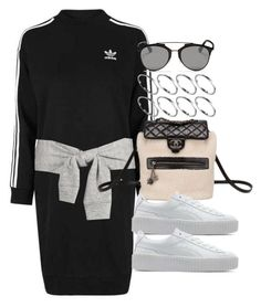 """""""Style #11568"""" by vany-alvarado ❤ liked on Polyvore featuring Topshop, Chanel, Puma, Christian Dior and ASOS"""