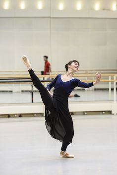 Laura Morera as the Gypsy Girl in rehearsal for The Two Pigeons, The Royal Ballet © 2015 ROH.