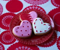 Heart Cookies #CakeDecorating