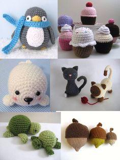 Crochet Amigurumi Pattern Bundle 1 Digital Download by AmyGaines on Etsy https://www.etsy.com/listing/156650189/crochet-amigurumi-pattern-bundle-1