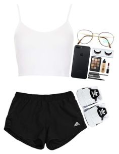 """Chill Day"" by destiniet ❤ liked on Polyvore featuring Benetton, Topshop, adidas, Sonia Kashuk, MAC Cosmetics, NARS Cosmetics and Elizabeth Arden"