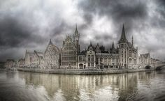 Belgium | Old City of Ghent by unkreatives.deviantart.com