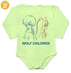 Minimalist Wolf Children Artwork Baby Long Sleeve Romper Bodysuit Extra Large - Baby bodys baby einteiler baby stampler (*Partner-Link)
