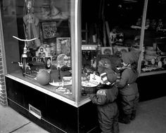 Window Shopping Kids - 1957