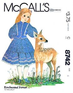 McCall's Sewing Pattern 8742 Girls Sizes 6 Enchanted Forest Dress Vest