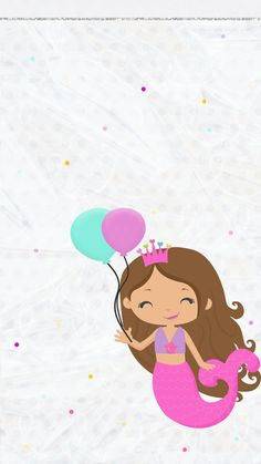 64 Best Ideas For Birthday Wallpaper Iphone Backgrounds Hello Kitty<br> Birthday Love, Mermaid Birthday, Friend Birthday, Mermaid Wallpapers, Cute Wallpapers, Handy Iphone, Birthday Party Invitations Free, Free Adult Coloring, Birthday Wallpaper