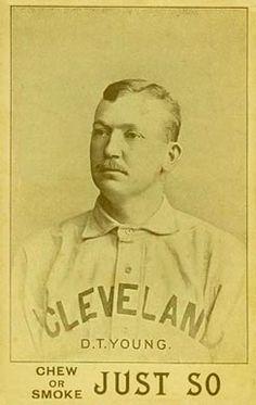 "Denton True ""Cy"" Young. Very Rare 1893 Just So Tobacco Card."