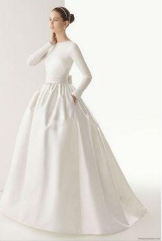 Specials High Neck Long Sleeves New Design Muslim Wedding Dress From High-Ranking Online Seller Dailyspecialsdress