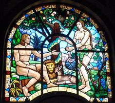 Stained Glass - Adam and Eve by fuguestock on DeviantArt