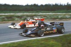 Mario Andretti Lotus-Ford  James Hunt McLaren M26 1977