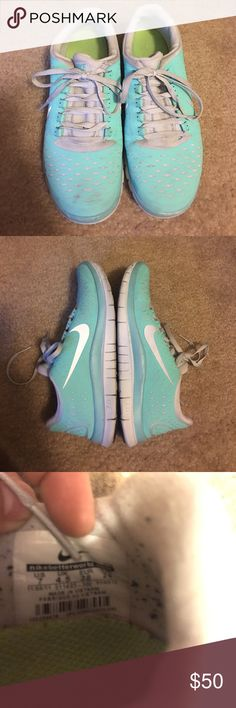 Nike Free Run 3.0 Tiffany Blue Women's Size 7 Nike Free Run 3.0 Tiffany Blue Women's Size 7. Make an offer! In good condition:)! Nike Shoes Athletic Shoes