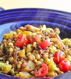 potato and corn hash with Indian flavors--Delicious and easy summer meal!!