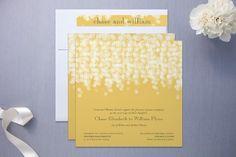 Summery Yellow Wedding Invitation