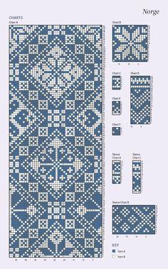 Crochet Doily Patterns, Crochet Doilies, Knitting Charts, Knitting Patterns, Cross Stitch Designs, Cross Stitch Patterns, Fair Isle Knitting, Christmas Knitting, Cross Stitch Embroidery