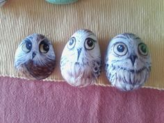 Hand painted owls