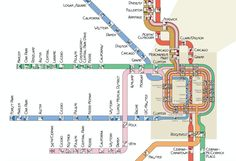 Mapping Chicago's Subway in the Style of Frank Lloyd Wright