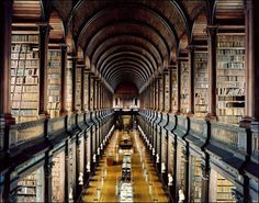 """One of my favorite places in Dublin! The 25 Most Beautiful College Libraries in the World / The Trinity College Library, aka """"The Long Room,"""" Dublin, Ireland Trinity Library, Trinity College Dublin, Library University, College Library, Dublin Library, Library Books, Library Quotes, Oxford Library, Dream Library"""