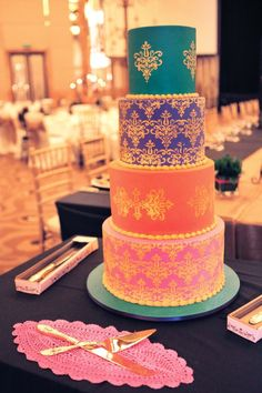 Bollywood themed, designed by Cristina Re at Ab Fab Cakes