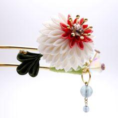 珠花のつまみ細工かんざし 和 髪飾り 簪【色違いもできます】