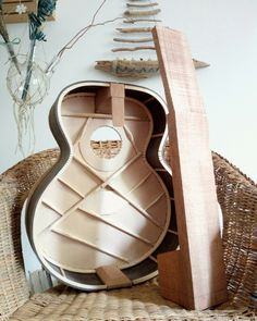 Acoustic guitar at the heart