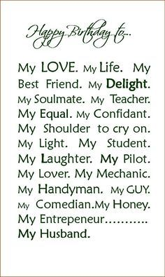 Best ideas about Happy Birthday Husband Quotes . Save or Pin Happy Birthday To My Husband Quotes QuotesGram Now. Happy Birthday Husband Cards, Happy Valentines Day Card, Happy Husband, Happy Birthday Quotes, Love My Husband, Happy Birthday Me, Happy Quotes, Birthday Wishes, Love Quotes