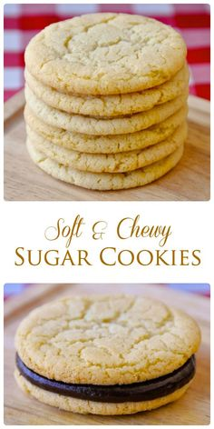 Soft and Chewy Sugar Cookies - Our most popular cookie recipe out of 200 posted on Rock Recipes over the last 7 years. These buttery, vanilla scented cookies demonstrate how utterly delicious the simple things can be. Visit Us To Know Chewy Sugar Cookies, Sugar Cookies Recipe, Yummy Cookies, Cookies Et Biscuits, Yummy Treats, Simple Sugar Cookie Recipe, Vanilla Cookies, Soft Sugar Cookie Recipe, Gluten Free Sugar Cookies