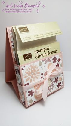 Stampin Up! Storage for Dimensionals/Pearls using Blooms & Bliss