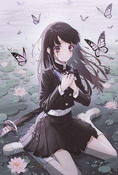 Anime Pop Heart — ★ 【MiRyo】 「 kanao 」 ☆ ⊳ kimetsu no yaiba ✔. Sad Anime Girl, Kawaii Anime Girl, Anime Art Girl, Anime Girls, Anime Angel, Anime Demon, Wallpaper Animes, Animes Wallpapers, Demon Slayer