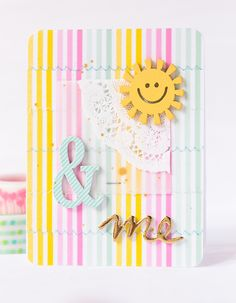 mojosanti : Sonne und einmal 'Happy Mail' I June embellishment kit from freckledfawn