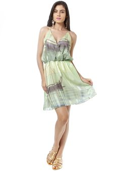 Vestido transpassado verde » Vestidos
