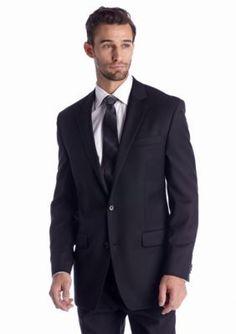 MICHAEL Michael Kors Black Classic Fit Black Solid Suit Separate Coat