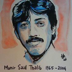 Munir Said Thalib 1965 - 2004. Barangkali kini racun sianida lebih populer namun mari mengingat bahwa lebih dari sepuluh tahun lalu kebenaran pernah dibungkam dengan racun arsenik. --- Cat air dan marker di atas kertas cold press.  #watercolor #munir #sketch #asasi