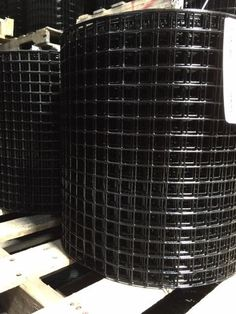 "1x1"" 14G 17""x100' Black PVC Coated Galvanized Welded Wire Mesh Rolls (GAW) #RiverdaleNCP"