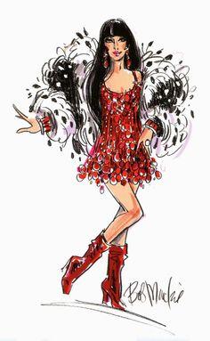 Bob Mackie Sketch Cher