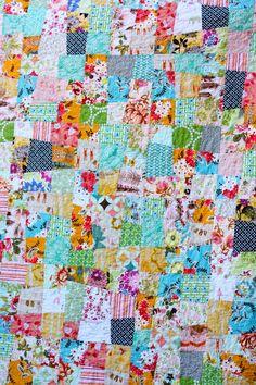 Wonky 9 Patch using Elizabeth Hartman's tutorial