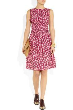 Nina Ricci | Floral-print silk dress | NET-A-PORTER.COM