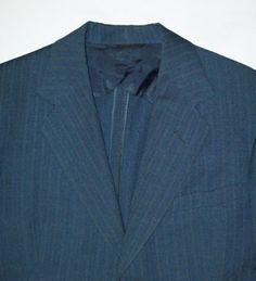 Old Vtg WWII 1941 Striped Wool 2 PC Hollywood Man's Suit Atomic Gangster Elvis | eBay
