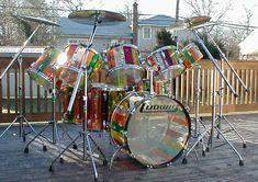 "FV Vistalite Collection "" Lifesavers"" Pattern C Spiral Ludwig Drums, Drum Solo, Vintage Drums, Snare Drum, Drum Kits, Drummers, Life Savers, The Beatles, Spiral"