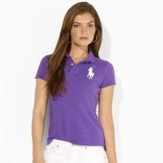 Neon Big Pony Skinny-Fit Polo - Blue Label Polos - RalphLauren.com