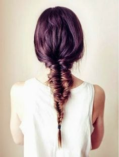 How to Chic: OMBRE FISHTAIL BRAID INSPIRATION