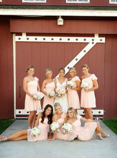 love the pink dresses